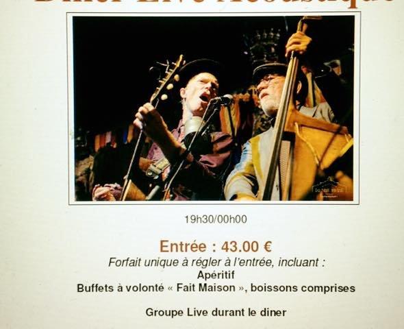 Vendredi 29 novembre au restaurant Léopold Dîner live acoustique ,…
